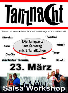 HANNOVERS beste Tanzparty - TanzNacht