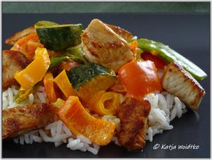 Rotes Curry mit Kokosmilch