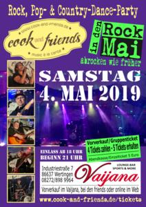 Rock in den Mai | Rock,- Pop & Country-Dance-Party mit cook & friends / live in der Vaijana Lounge