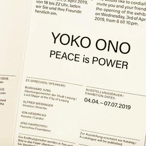 PEACE is POWER - Projekt mit YOKO ONO im MdbK Leipzig