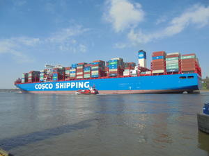 COSCO-- SHIPPING!  CONTAINERSCHIFF!