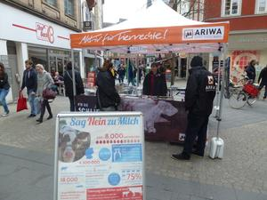 Vegan Buddy Infostand AntiSpeDay Aschaffenburg