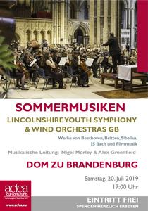 Lincolnshire Youth Symphony and Wind Orchestras (LYSO & LYWO) – Sommermusiken Dom zu Brandenburg