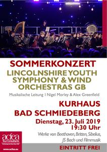 Lincolnshire Youth Symphony and Wind Orchestras (LYSO & LYWO) – Sommerkonzert Kurhaus Bad Schmiedeberg