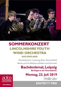 Lincolnshire Youth Wind Orchestra (LYWO) – Sommerkonzert Bachdenkmal Leipzig