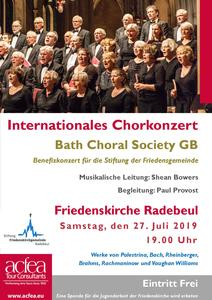 Bath Choral Society – Internationales Chorkonzert Friedenskirche Radebeul