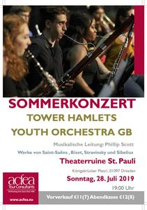 Tower Hamlets Youth Orchestra – Sommerkonzert Theaterruine St. Pauli