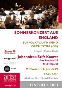 Suffolk Youth Wind Orchestra – Sommerkonzert Johanniter-Stift Kaarst