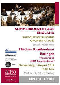 Suffolk Youth Wind Orchestra – Sommerkonzert Fliedner Krankenhaus Ratingen