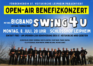 Open - Air Benefizkonzert mit Bigband SWiNG4U