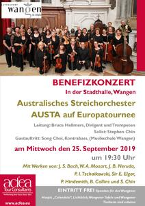 Australian Strings Association – Benefizkonzert Stadthalle Wangen