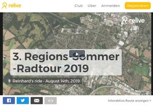 3. Region-Sommer-Radtour 2019: Video, 29 Bilder