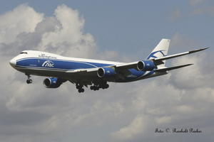 Air Bridge Caro Boeing 747-8 F im Landeanflug !