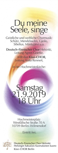 Deutsch-Finnischer Chor in der Hochmeisterkirche – Internationales Konzert