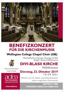 Wellington College Chapel Choir – Benefizkonzert Divi-Blasii-Kirche Mühlhausen