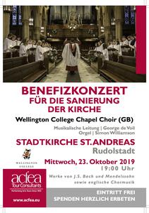 Wellington College Chapel Choir – Benefizkonzert Stadtkirche St. Andreas Rudolstadt
