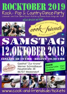 Livemusik / Rocktober 2019 in Westendorf / Rock-, Pop- & Country-Dance-Party