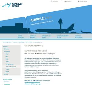 'AIRPOLIS': ADFC jetzt im Airport-Intranet