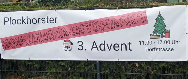 Hofweihnachtsmarkt in Plockorst am 3. Advent