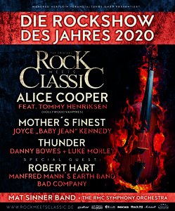 Rock meets Classic–Tournee 2020 -Mit großem Orchester- Alice Cooper Live