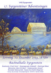 17. Syrgensteiner Adventssingen