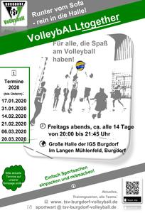 TSV Burgdorf Volleyball: VolleybALLtogether – Termine bis Ostern