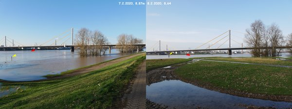 Hochwasser - Collage 8,87m / 8,64m