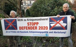 Friedensdemonstration in Bremerhaven gegen 'Defender Europe 2020'