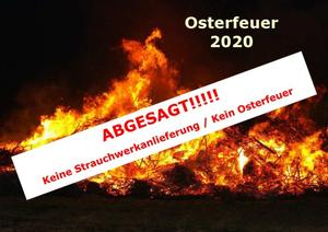 Absage Osterfeuer 2020 Woltorf