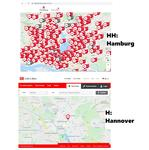 HH : H* = 2.500 : 10(?)**. Stationsgebundene Leihräder in Hamburg bzw. in der Region Hannover. - Blog-Nr. #1.203.