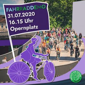 Fridays for Future: Fahrraddemo in Hannover