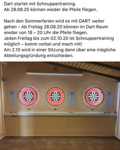 Schnuppertraining Darts