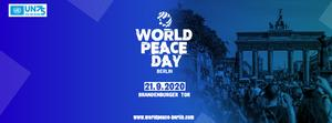 World Peace Day der Vereinten Nationen ist am 21. September in Berlin