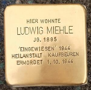 Stolperstein Ludwig Miehle