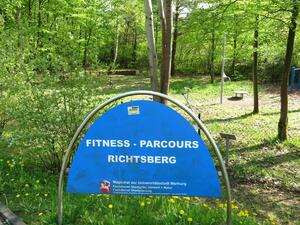 Am Fitness-Parcours Richtsberg in Marburg