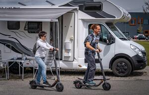 E-Scooter und Camping