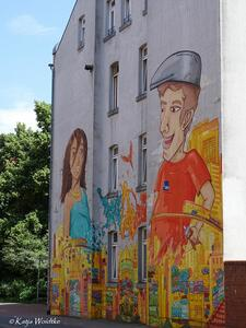 Graffitis in Hannover - 'LOVE, PEACE & UNITY' in Linden Süd